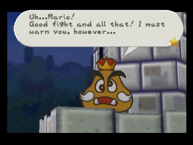 Paper Mario - Location  - Too late man - User Screenshot